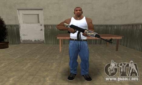 Cool Black AK-47 para GTA San Andreas tercera pantalla