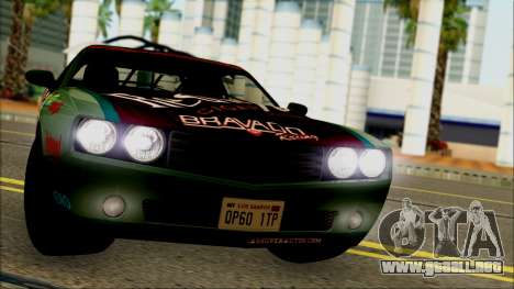 GTA 5 Bravado Gauntlet Redwood HQLM para GTA San Andreas vista posterior izquierda