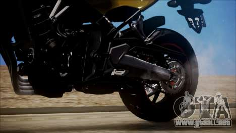 Honda CB650F Amarela para GTA San Andreas vista hacia atrás