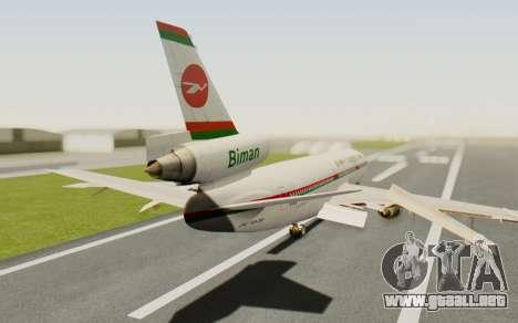 DC-10-30 Biman Bangladesh Airlines para GTA San Andreas left