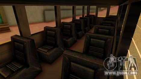 Prison Bus para la visión correcta GTA San Andreas