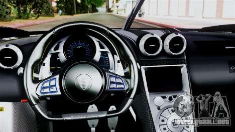 NFS Rivals Koenigsegg Agera R v2.0 para la visión correcta GTA San Andreas
