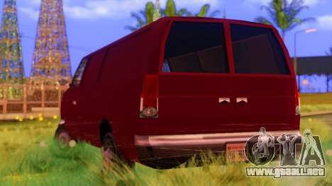 Ambush Van para GTA San Andreas vista posterior izquierda
