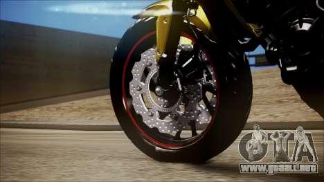 Honda CB650F Amarela para la visión correcta GTA San Andreas