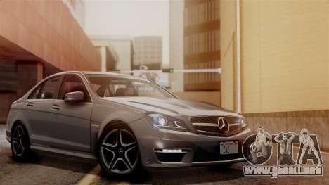 Mercedes-Benz C63 AMG 2015 Edition One para vista inferior GTA San Andreas