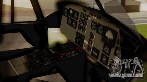 Bell UH-1 Paraguay para GTA San Andreas vista hacia atrás