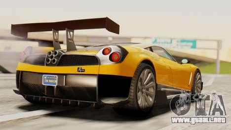 Pegassi Osyra Full Extras para GTA San Andreas left