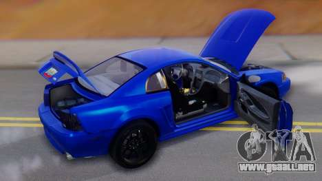 Ford Mustang 1999 Clean para el motor de GTA San Andreas