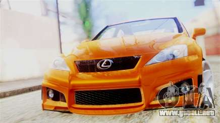 Lexus IS F para GTA San Andreas