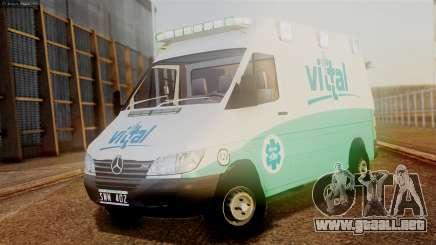 Mercedes-Benz Sprinter Ambulance Vittal para GTA San Andreas