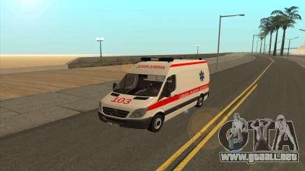 Mercedes-Benz Sprinter Ambulancia Ucrania para GTA San Andreas