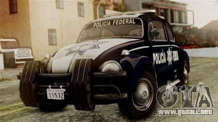 Volkswagen Beetle 1963 Policia Federal para GTA San Andreas