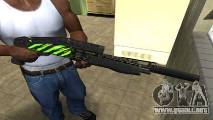 SPAS-12 Green Lines para GTA San Andreas