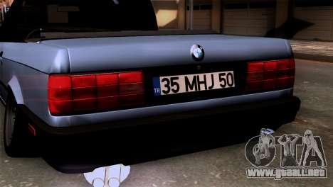 BMW M3 E30 Cabrio para GTA San Andreas vista hacia atrás