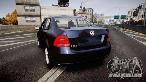 Volkswagen Polo para GTA 4 Vista posterior izquierda