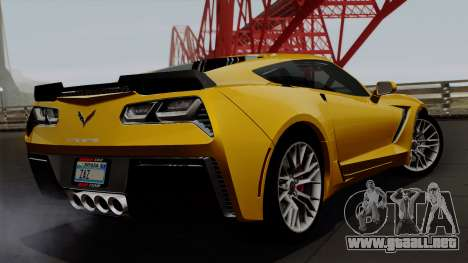 Chevrolet Corvette Z06 1.0.1 para GTA San Andreas left