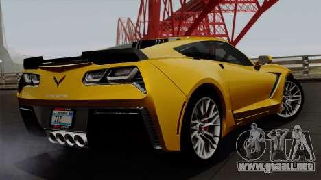 Chevrolet Corvette Z06 1.0.1 para GTA San Andreas left