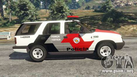 GTA 5 Chevrolet Blazer Sao Paulo State Police vista lateral izquierda