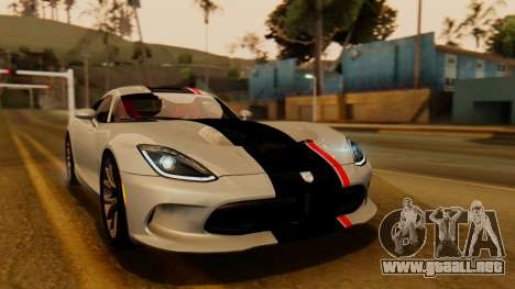 Dodge Viper SRT GTS 2013 IVF (HQ PJ) LQ Dirt para la vista superior GTA San Andreas