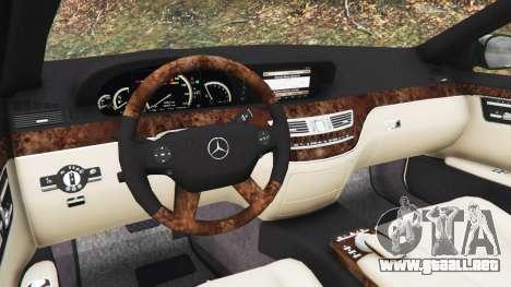 GTA 5 Mercedes-Benz S500 W221 v0.3.1 [Alpha] vista lateral trasera derecha