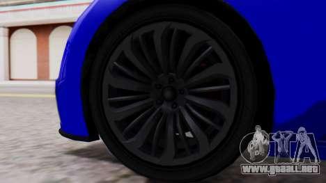 GTA 5 Truffade Adder Convertible para GTA San Andreas vista posterior izquierda