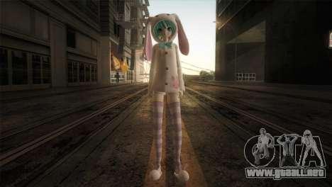 Miku Bunny para GTA San Andreas segunda pantalla