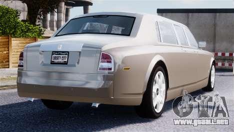 Rolls-Royce Phantom LWB para GTA 4 vista desde abajo