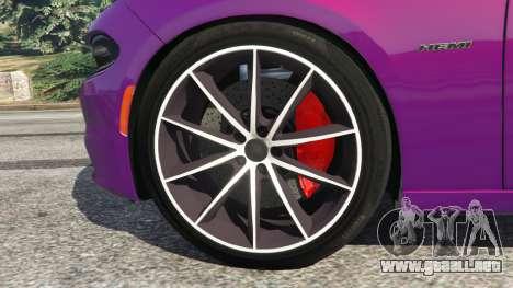 GTA 5 Dodge Charger RT 2015 v1.1 vista lateral trasera derecha