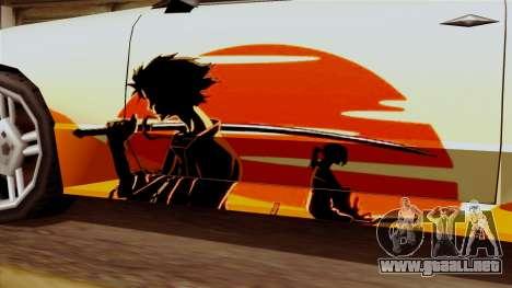 De vinilo para la Elegía a la Deriva Samurai para la visión correcta GTA San Andreas