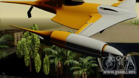 Star Wars N-1 Naboo Starfighter para GTA San Andreas vista posterior izquierda