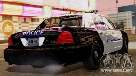 Police LS 2013 para GTA San Andreas left