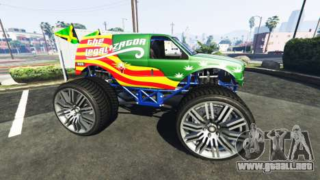 GTA 5 Vapid The Liberator The Legalizator vista lateral izquierda