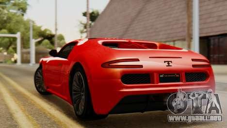GTA 5 Adder Secondary Color Tire Dirt para GTA San Andreas left