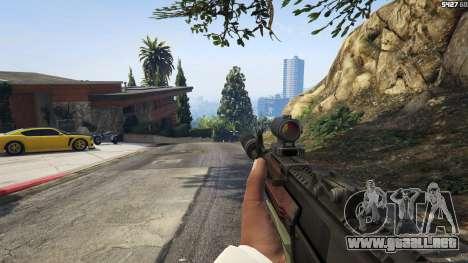 GTA 5 Battlefield 4 AK-12 quinta captura de pantalla