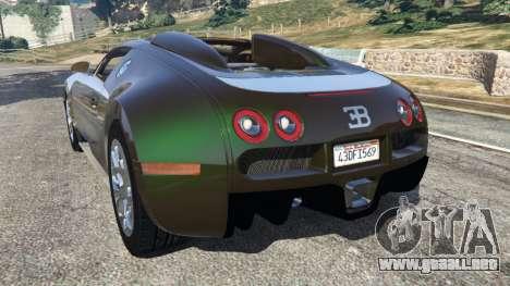 GTA 5 Bugatti Veyron Grand Sport v3.0 vista lateral izquierda trasera