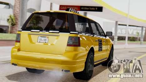 Landstalker Taxi SR 4 Style Flatshadow para GTA San Andreas left