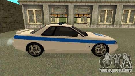 Nissan Skyline R32 Russian Police para visión interna GTA San Andreas