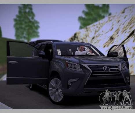 Lexus GX460 2014 para vista lateral GTA San Andreas
