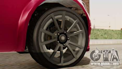 GTA 5 Cheval Fugitive para GTA San Andreas vista posterior izquierda