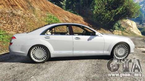 GTA 5 Mercedes-Benz S500 W221 v0.3 [Alpha] vista lateral izquierda