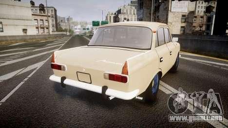 Moskvich-412 para GTA 4 Vista posterior izquierda