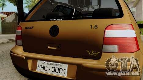 Volkswagen Golf 2004 Edit para GTA San Andreas vista hacia atrás