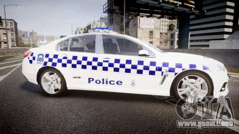 Holden VF Commodore SS NSW Police [ELS] para GTA 4 left