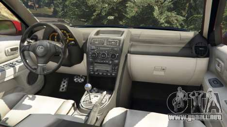 GTA 5 Lexus IS300 vista lateral derecha