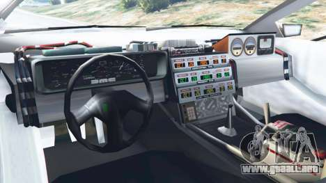 GTA 5 DeLorean DMC-12 Back To The Future v0.2 vista lateral trasera derecha