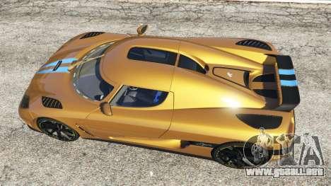 GTA 5 Koenigsegg Agera v0.8 [Early Beta] vista trasera