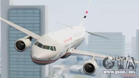Airbus A320-200 Egyptian Air Force One para la visión correcta GTA San Andreas
