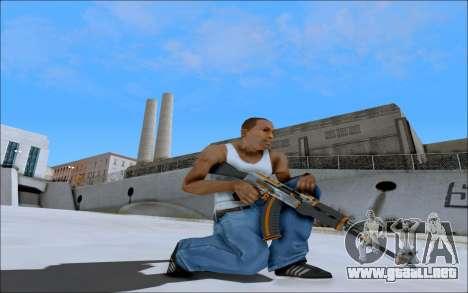 AK-47 Carbone Edition para GTA San Andreas tercera pantalla