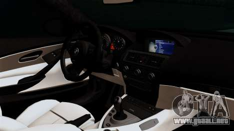 BMW M6 E63 Police Edition para la visión correcta GTA San Andreas