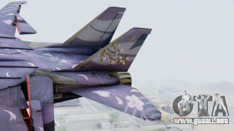 F-14D Zipang para GTA San Andreas vista posterior izquierda